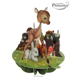 Felicitare 3D Pirouettes Santoro-Animalute dragute. O felicitare draguta 3D pentru copii.