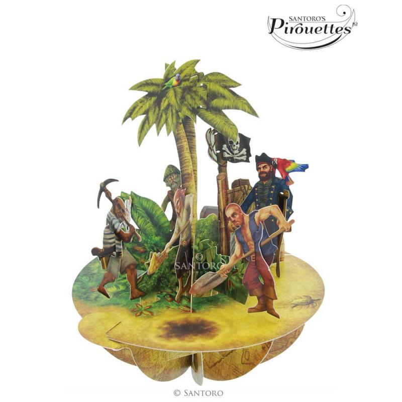 Felicitare 3D Pirouettes Santoro-Insula comorii. O felicitare draguta perfecta pentru  copii!
