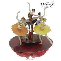 Felicitare 3D Pirouettes Santoro-Balerine. O felicitare pentru cei dragi.