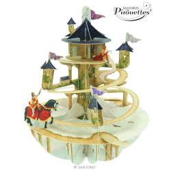 Felicitare 3D Pirouettes Santoro-Turnul printesei. O felicitare perfecta pentru copii si adulti de toate varstele