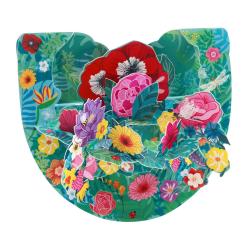 Felicitare 3D PopnRock Flori tropicale - o imagine florara printr-o felicitare cu elemente mobile.
