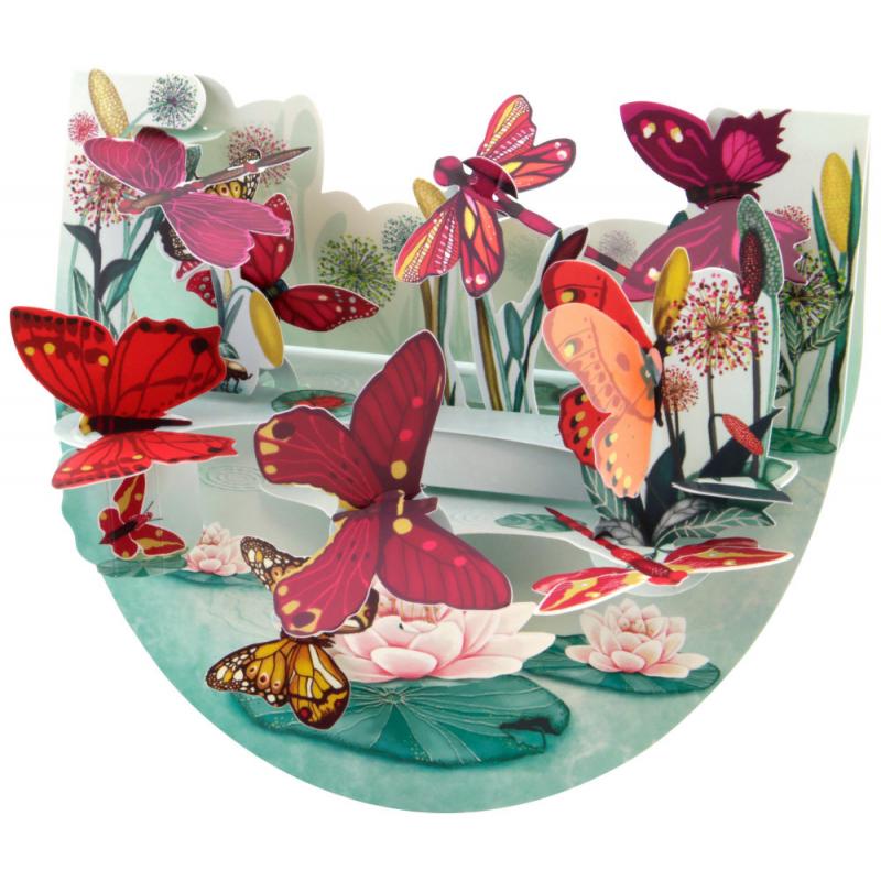 Felicitare 3D PopnRock Fluturi- o felicitare tridimensionala, cu elemente interactive potrivita pentru orice ocazie.