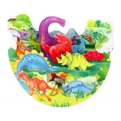 Felicitare 3D PopnRock Dinozauri -  o felicitare 3D, amuzanta, dedicata pasionatilor de dinozauri. Ideala pentru copii si adulti