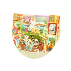 Felicitare 3D PopnRock Pet Shop- o felicitare 3D cu elemente mobile pentru iubitorii de animale.