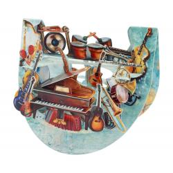 Felicitare 3D PopnRock Instrumente muzicale-  o felicitare 3D, cu parti mobile dedicata iubitorilor de muzica.