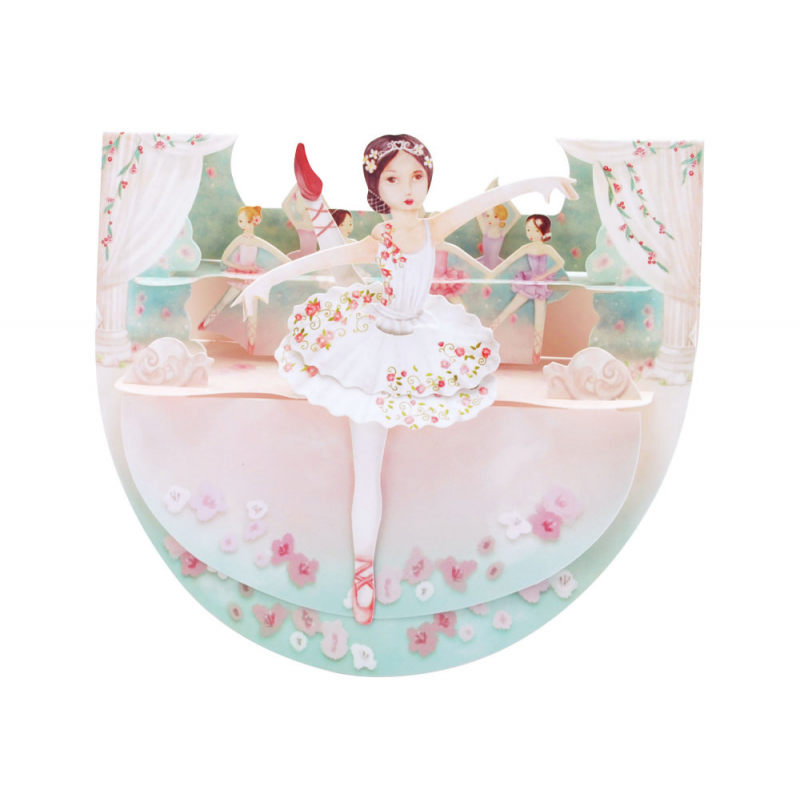Felicitare 3D PopnRock Balet - o felicitare 3D pentru pasionatii de balet, Opera si Opereta.  Ideala pentru copii si adulti!