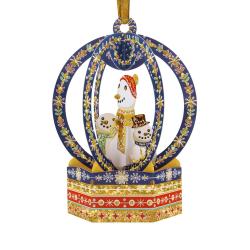 Ornament de brad Craciun Santoro stil glob Om de zapada este un ornament de Craciun de pus in brad cu spatiu pentru mesaj