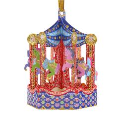 Ornament de brad de Craciun Baubles- Carusel- un ornament 3D  cu mesaj personalizat care se poate pune in brad.