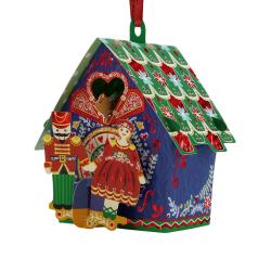 Ornament de brad de Craciun Santoro Baubles- Spargatorul de nuci - un ornament de brad cu card pentru mesaj.
