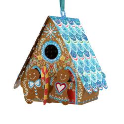 Ornament de brad de Craciun Santoro Baubles- Casuta din turta dulce