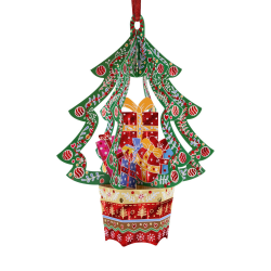 Ornament de brad de Craciun Santoro Baubles- Brad si cadouri- un ornament de pus in brad special