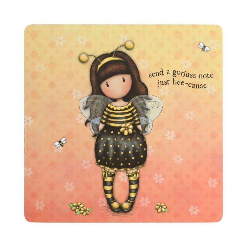 Set 42 notite si 84 abtibilduri Gorjuss Bee Loved