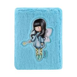 Agenda A4 Gorjuss Furry Bubble Fairy - fata agendei cu blanita bleu si fetita bubble fairy