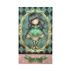 Carnetel Gorjuss Circus Firefly, coperta carnetelului cu firefly si romburi colorate in nuante de verde
