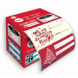 Etichete cadouri Craciun moderne - cutia si etichetele pentru cadouri