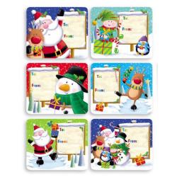 Etichete cadouri Craciun jumbo Mos Craciun si prietenii - toate modele de etichete disponibile