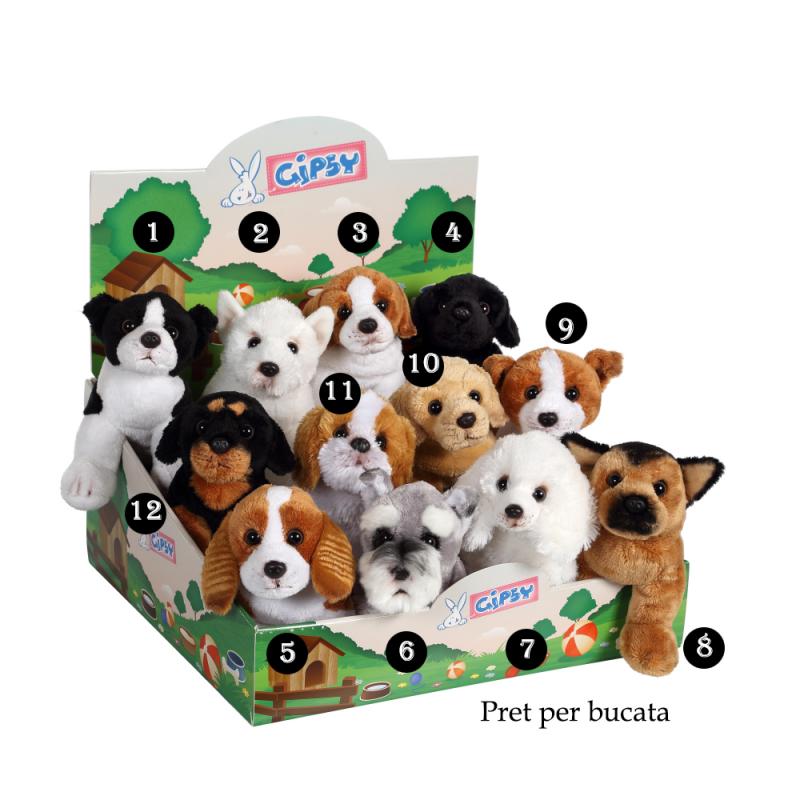 Catel - jucarie din plus cu sunet 22cm, modele speciale de jucarii catel de plus pentru copii