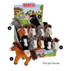 Cal - jucarie din plus cu sunet 22 cm, 4 modele disponibile de calut cu ham pentru copii