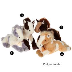 Cal patat - jucarie din plus cu sunet 60 cm, 4 modele deosebite de caluti din plus