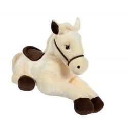 Cal cu sa - jucarie din plus 110 cm, calut bej foarte fin la atingere cu sa