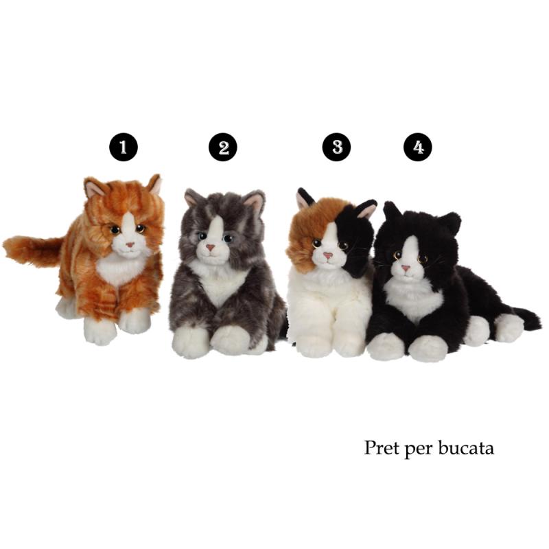Pisica Mimi - jucarie din plus 28 cm, 4 modele adorabile de pisicute pufoase