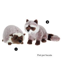 Vulpe sau arici - jucarie de plus 24 cm, arici sau vulpe foarte pufosi