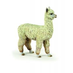 Figurina Papo-Alpaca- jucarie educativa, reproducere fidela a animalului viu.