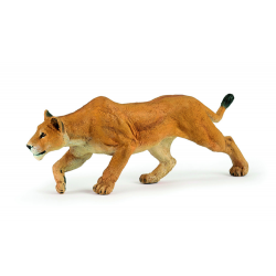 Figurina Papo-Leoaica la vanatoare o reproducere la scala a temutelor feline.