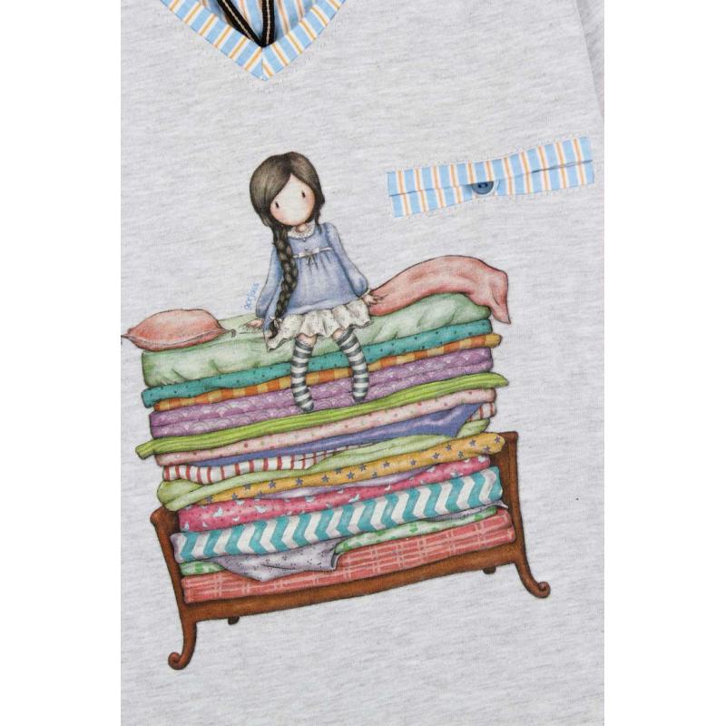 Pijama copii Gorjuss The Princess And The Pea- detaliu imprimeu