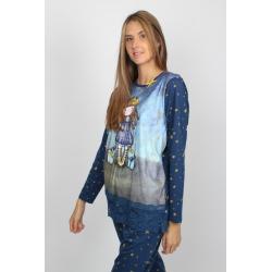 Pijama dama Gorjuss Just Because - pijama femei detaliu bluza pijama