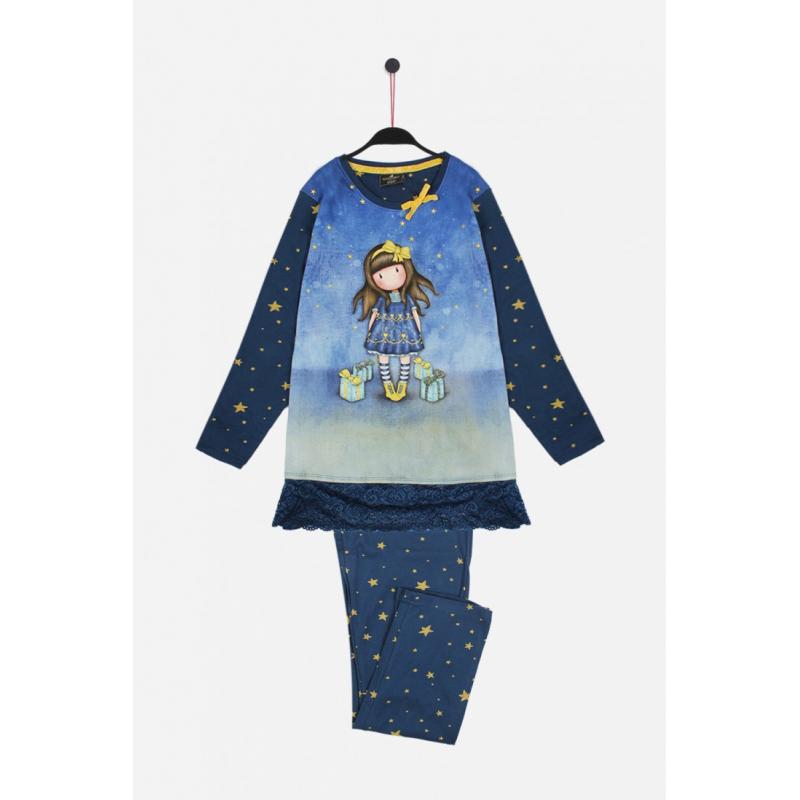 Pijama copii Gorjuss Just Because - model albastru inchis pijama fetite
