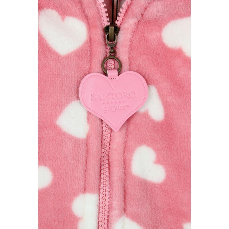 Halat copii Gorjuss Love Heart- detaliu fermoar cu logo santoro