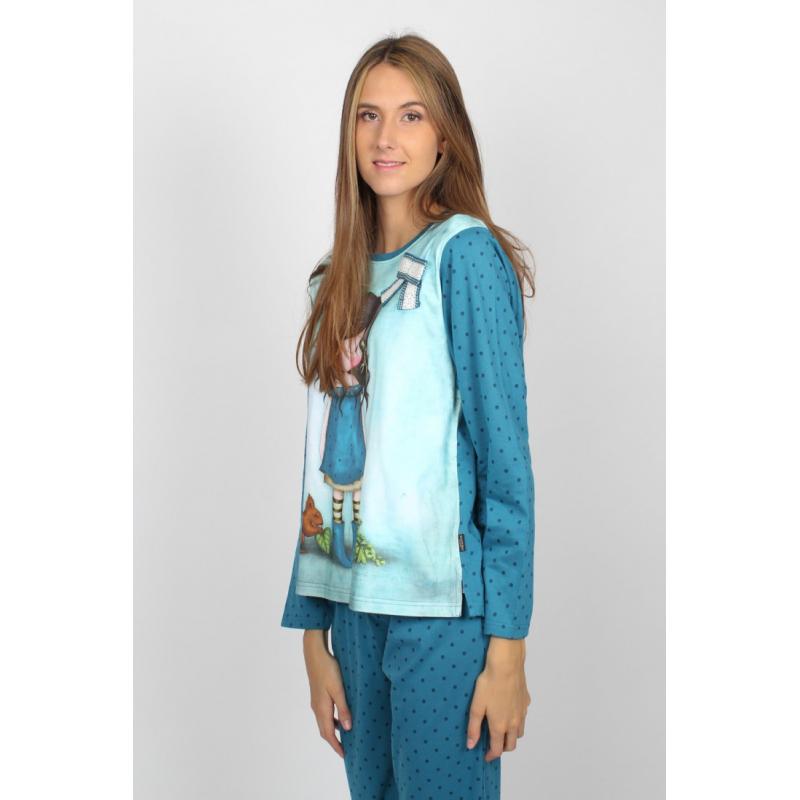 Pijama dama Gorjuss You Brought Me Love detaliu lateral pijama