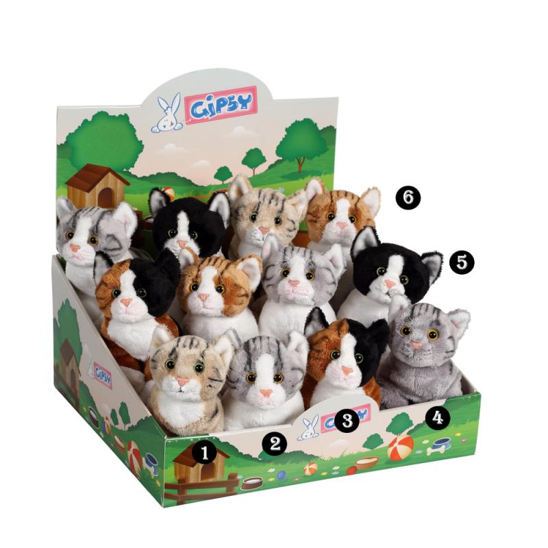 Pisica - jucarie din plus cu sunet 22cm, 12 modele speciale de jucarii de plus pentru copii, modele inedite