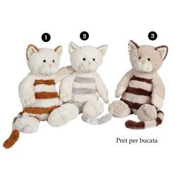 Pisica cu dungi - jucarie din plus 30 cm, pisicute adorabile cu dungute, 4 modele speciale