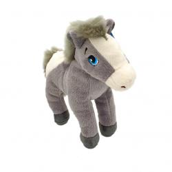 Cal - jucarie din plus cu sunet 22 cm, model cal gri