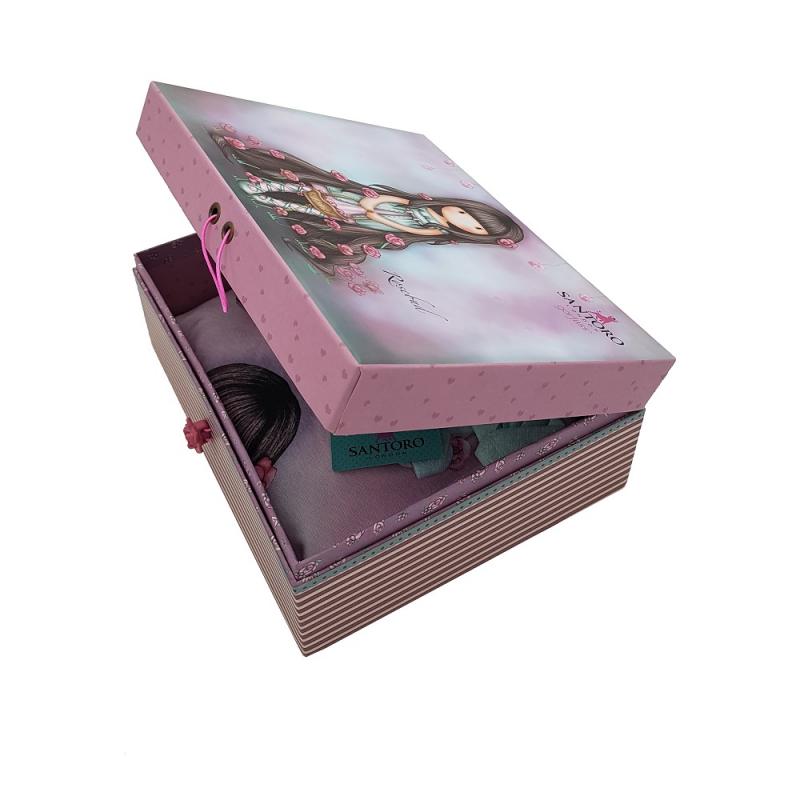 cutie premium Pijama copii cu tricou Gorjuss Rosebud, scurte