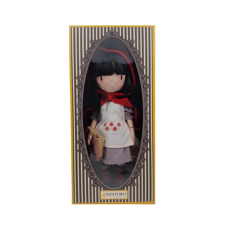 Papusa Gorjuss - Little Red Riding Hood ambalata in cutie premium