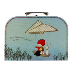 Cutie depozitare tip valiza medie Poppi Loves Messenger, cutie practica depozitare