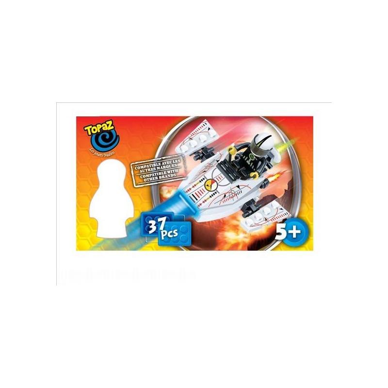 Set de construit tip lego Nava spatiala 37 piese