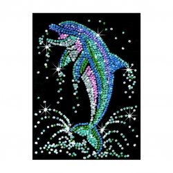 Sequin art set creativ Delfin