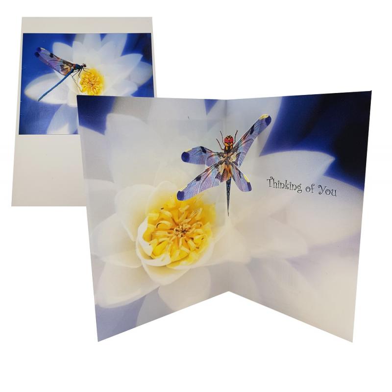 Felicitare 3D Lotus alb