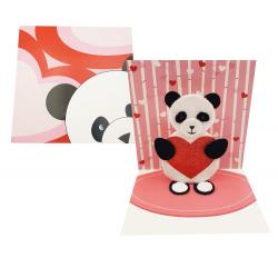 Felicitare 3D Treasure Panda