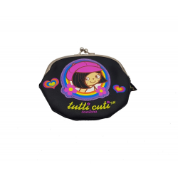 Portofel monede Tutti Cuti negru, amuzant si practic