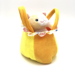 Jucarie din plus geanta portocalie cu pisicuta