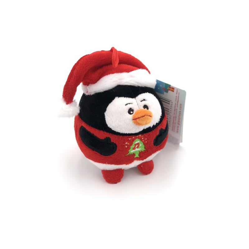 Jucarie din plus pinguin de craciun cu sunet