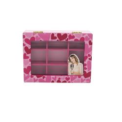 Caseta bijuterii noua compartimente din lemn Violetta