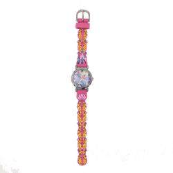 Ceas de mana analogic, roz cu Elsa Frozen