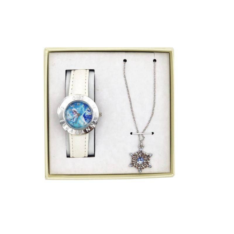 Set ceas alb si colier Frozen Disney