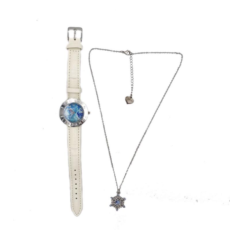 Prezentare produse Set ceas alb si colier Frozen Disney